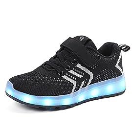 Aizeroth-UK-LED-Zapatos-Verano-Ligero-Transpirable-Bajo-7-Colores-USB-Carga-Luminosas-Flash-Deporte-de-Zapatillas-con-Luces-Los-Mejores-Regalos-para-Nios-Nias-Cumpleaos