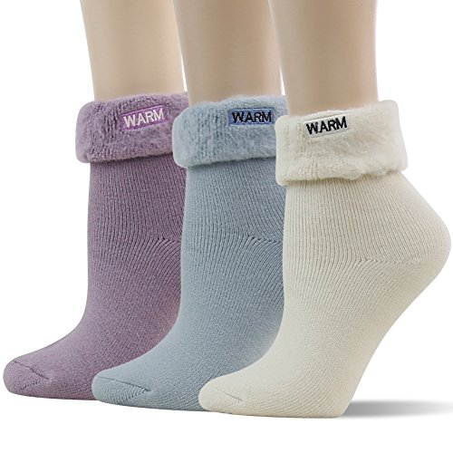 SUTTOS Women Warm Winter Crew Socks Casual Socks 3 Pairs