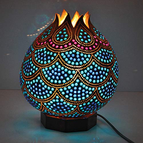 Kürbislampe Kalebasse Tröpfeln Handarbeit