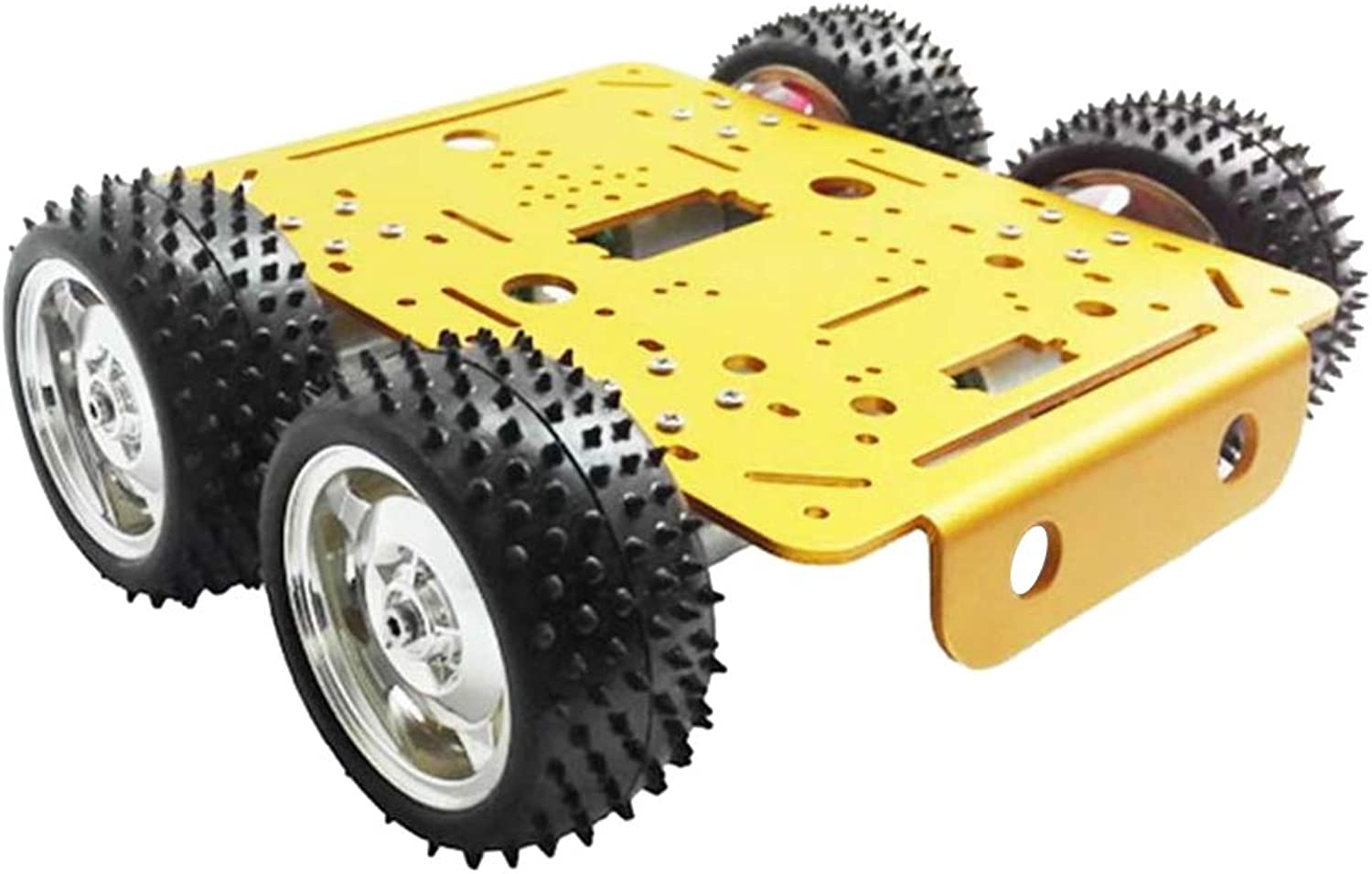 B Blesiya C300 4wd Roboter Rad Auto Fahrgestell Kits Fernbedienung DIY Spielzeug Smart Track Modell  yellowes Chassis