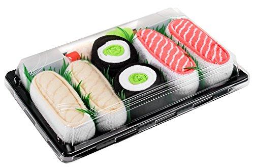 Rainbow Socks - Donna Uomo Calzini Sushi Butterfish Salmone Cetriolo Maki - 3 Paia - Taglia 41-46