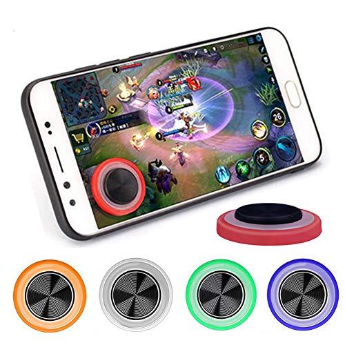 GOW 2 x Universal Joystick für Handy, Smartphone oder Tablet. Bessere Steuerung, einfache Handhabung. Geeignet für alle Modelle (iPhone, Samsung und Co.) (Orange)