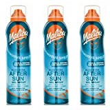 3 Malibu aerosol continua Aftersun Spray Gel con Aloe Vera. Pack contiene 3 botellas – 175 ml cada