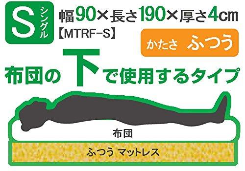 『アイリスオーヤマ マットレス シングル ふつう 厚さ4cm ホワイト MTRF-S』の6枚目の画像