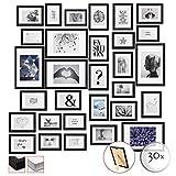 bomoe 30er Set Bilderrahmen Emotion Bilder-Collagen Fotorahmen aus Holz
