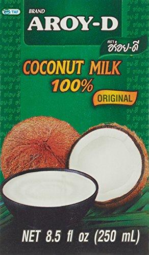 AROY-D Kokosmilch (Fettgehalt ca. 19% - Ideal zum Kochen, Backen, für Desserts und Cocktails) 1er Vorteilspack à 250ml
