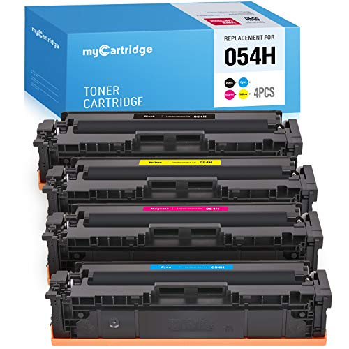 MYCARTRIDGE Compatible Toner Cartridges Replacement for Canon 054H 054 use with i-SENSYS MF643CDW Color imageCLASS MF642CDW LBP620C Series (Black, Cyan, Magenta, Yellow, 4-Pack)