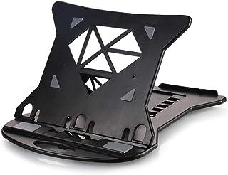 QKEMM Mesa Plegable portatil Base Ajustable y Plegable Soporte para Notebook PC Laptop Ordenador Proteger la vértebra Cervical radiador de Soporte portátil Fondo Negro sin rotación