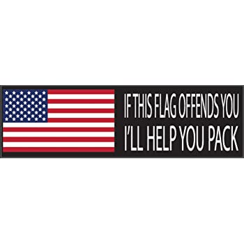 American 10x3 Patriotic Bumper Sticker Auto Decal Conservative Republican American and Proud USA Flag American Patriot
