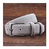 Without Cintura da Uomo Cintura da Uomo Cintura in Pelle Genuine Pelle Scamosciata in Pelle Scamosciata in Pelle di Vacchetta da Uomo di Lusso Brand Brush Metal Fibbia