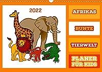 Afrikas bunte Tierwelt (Wandkalender 2022 DIN A3 quer): Eine schoene Bildersammlung fuer unsere Kleinsten um Tiere aus Afrika auf lustiger Weise kennen zu lernen. (Geburtstagskalender, 14 Seiten )