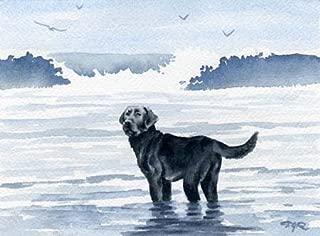 black lab watercolor