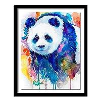 ダイヤモンドペインティング DIY 5D パンダ、動物 ラインストーンクリスタルの刺繍キットアート工芸品&ソーイングクロスステッチ 30x40cm