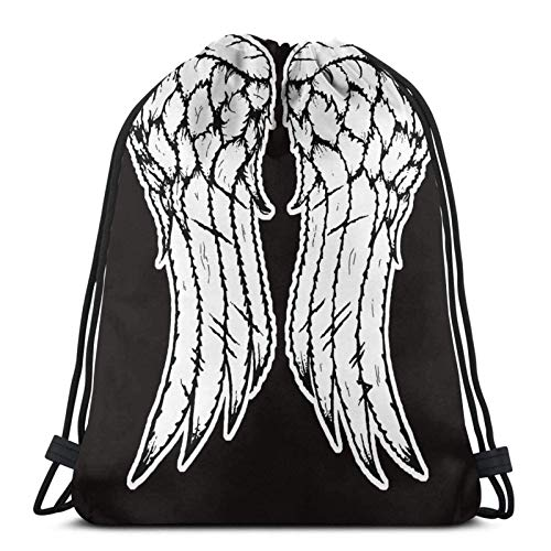 LREFON Dixon Wings Sport Bag Gym Sack Zaino con Coulisse Solid Cinch Pack