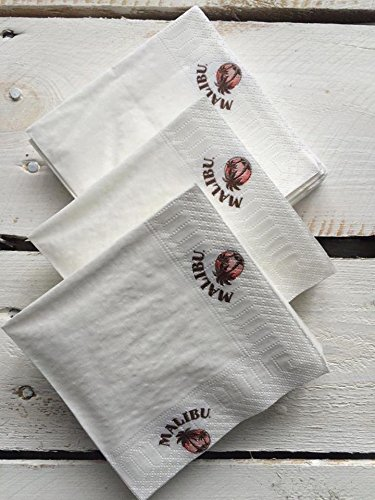 200 x Malibu Rum servetten onderzetters