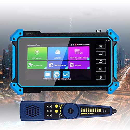 APROTII 5 '8MP IPC cámara probador AHD CVI TVI CVBS analógico Monitores prueba LCD 4 K H.265