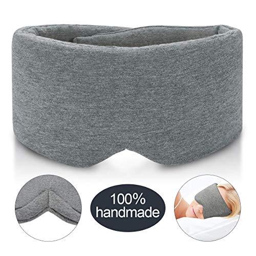 JEBBLAS Schlafmaske für Damen und Herren, Blickdichte Verstellbare Schlafbrille für tiefe Entspannung,Tolle, Weiche,Grau