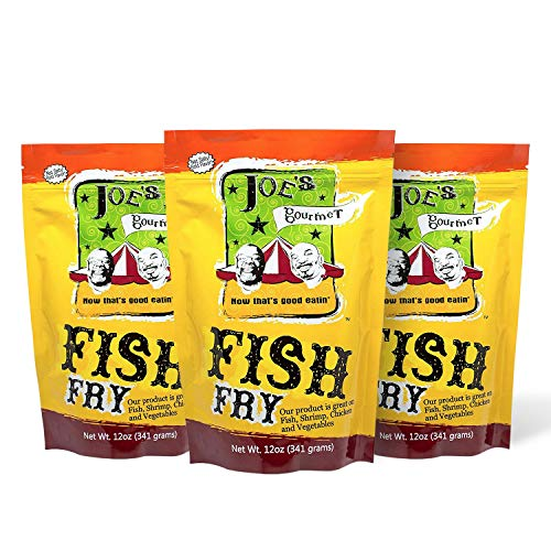 Joe's Gourmet Fish Fry, Seafood Breading Mix, Fish Fry Seasoning, As Seen on Shark Tank, 12 Oz (Original, 3 Pack)