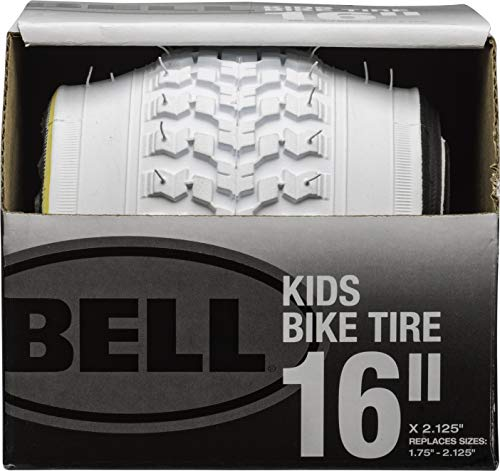 Bell 7091033 Kids Bike Tire, 16' x 1.75-2.25', White
