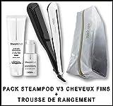 L'Oréal Professionnel Steampod 3.0 Lisseur + Lait cheveux fins 150 ml + Sérum 50 ml + Trousse de rangement