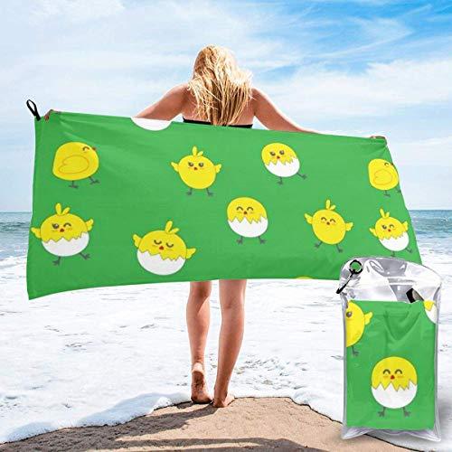 Toallas de Playa sin Arena Cute Chicken Toalla de baño súper Absorbente de Secado rápido para Nadar y al Aire Libre, Toalla de Yoga portátil para niños Adultos