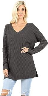 Jayde N' Grey Ultra Soft Premium Brushed Melange Oversized Cozy Long Tunic Sweater Top Regular & Plus Size