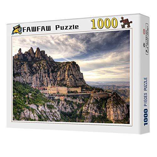 FAWFAW Wooden Jigsaw Puzzles, 1000 Piezas, Monasterio De Barcelona, España