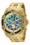 Invicta Men's Pro Diver Quartz Watch with Stainless Steel Strap, Gold, 26 (Model: 25094)