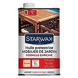 STARWAX Huile Protectrice Teck et Bois Exotiques pour Mobilier de Jardin - 500ml - Idéal pour Nourrir en Profondeur, Préserver du Dessèchement et du Grisaillement