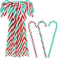 30個 クリスマスキャンディケーン ハンギングデコレーション プラスチック クリスマスツリー キャンディケーン ハンギングホリデーパーティーデコレーション クリスマスツリーデコレーション (30)