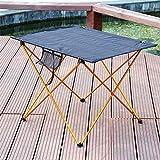 HNZNCY Mesa de camping ultraligera, plegable al aire libre, de aluminio, mesa enrollable portátil, con bolsa de almacenamiento para exteriores,...