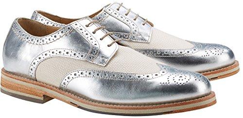 Wellensteyn Schuhe Malhony Vintage poliertes Leder (43, Silber)