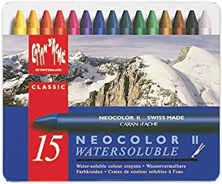 CREATIVE ART MATERIALS Caran D'Ache NeoColor II Water Soluble Wax Pastel Set 15/Pk-