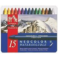 CREATIVE ART MATERIALS Caran D'Ache NeoColor II Water Soluble Wax Pastel Set 15/Pk-