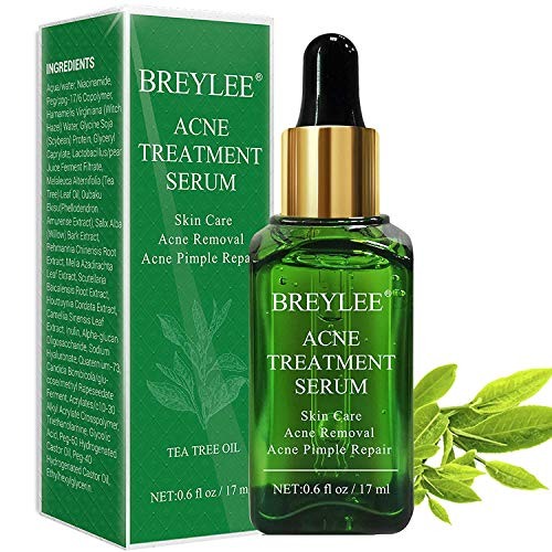 Anti Pickel, BREYLEE Akne Behandlung Anti Pickel Serum Anti Akne Serum Teebaum Serum Hautpflege gegen Akne Haut Gesichtspflege für Anti Pickel und Anti Akne(17ml, 0.6fl oz)