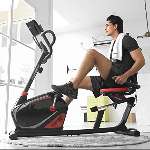 HARISON Magnetic Recumbent Exercise Stationary bike for Seniors 350 LBS Capacity with 14 Level Resistance