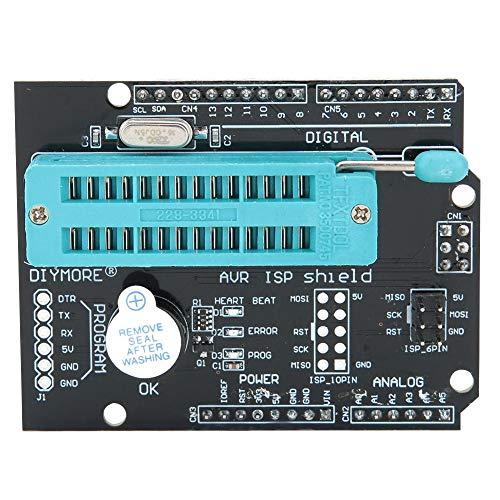 Programmer-Erweiterungskarte, AVR ISP Shield Burning Burn-Bootloader-Modul mit integriertem Summer und LED-Anzeigelampe