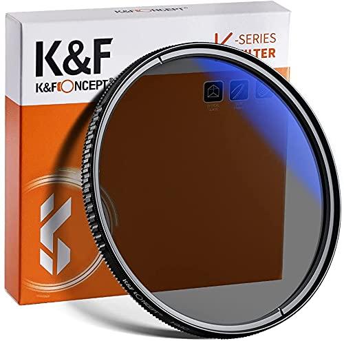 K&F Concept Pro 52mm Slim Zirkularer Polfilter Polarisationsfilter CPL Filter Cirkular Polfilter Optisches Glas & Aluminium für Foto-Kameraobjektive