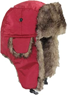 BEYOLO Womens Mens Winter Russian Ushanka Hats Shearling Trapper Aviator Trooper Earflap Ski Hat