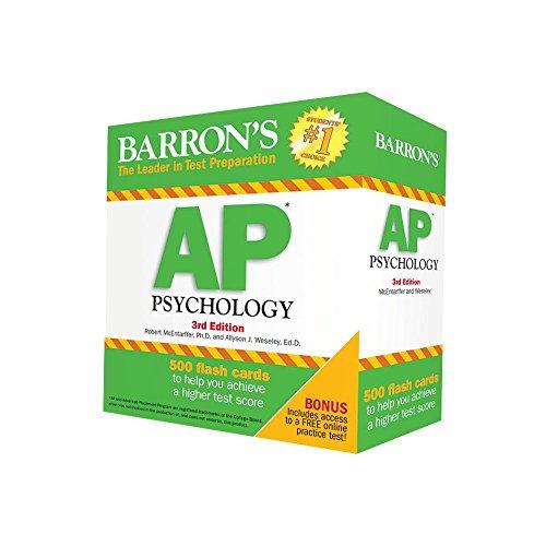 Barron's AP Psychology Flash Cards, 3rd Edition (Barron's Test Prep)