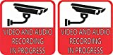 StickerTalk Video and Audio Recording in Progress Vinyl Stickers, 3 inches by 3 inches