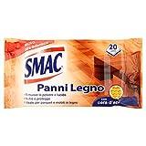 Smac - Panni Umidi Detergenti per Superfici in Legno, Lavapavimenti e Mobili, Nutre e Protegge, con Cera d'Api, 20 Panni