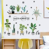 Chirsemey Etiqueta De La Pared Cactus, PVC Planta Verde Etiqueta De La Pared...