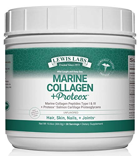Premium Marine Collagen Peptides (Types 1 & 3)   Wild Caught Hydrolyzed Fish Collagen & Proteox for Maximum Absorption & Benefits   Keto Amino Acid Protein Powder for Hair Nail Skin Joint Health