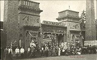 Street Of Cairo Seattle, Washington Original Vintage Postcard