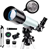 SYWJ Telescopio Digitale HD Telescopio astronomico per Principianti Regalo, telescopio catadiottrico per Bambini da 50 mm, telescopio National Geographic 90X HD, con treppiede + Lente di Barlow 1