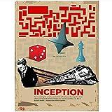 WTHKL Inception Rating Filmplakate Leinwand Malerei