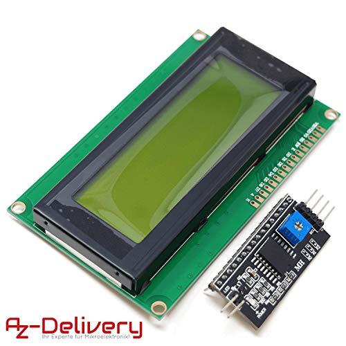 AZDelivery HD44780 2004 LCD Display Bundle Grün 4x20 Zeichen mit I2C Schnittstelle kompatibel mit Arduino inklusive E-Book!
