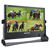 SEETEC ATEM156 15.6 Inch Live Streaming Broadcast Director Monitor with 4 HDMI Input Output Quad Split Display for ATEM Mini Video Switcher Mixer Pro Studio Television Production
