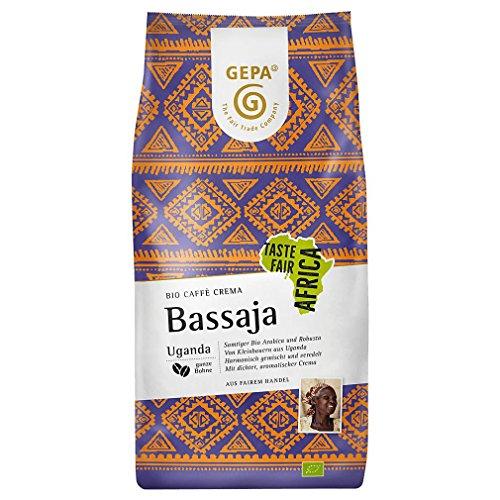 GEPA Bio Caffè Crema Bassaja, ganze Bohne, 1000 g, 1er Pack
